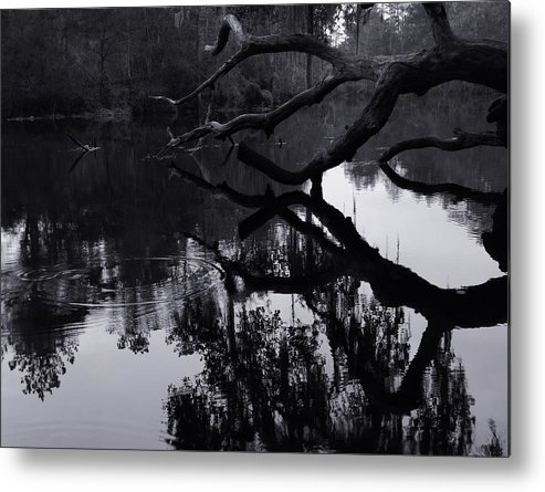 Ripples Of Black And White Metal Print featuring the photograph Ripples Of Black And White by Warren Thompson