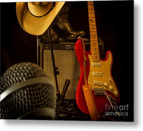 Guitar Metal Print featuring the photograph Show's Over by Robert Frederick