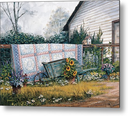 Michael Humphries Metal Print featuring the painting The Old Quilt by Michael Humphries
