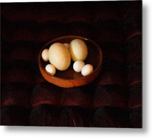 Still Life Metal Print featuring the mixed media Eggs by YoMamaBird Rhonda