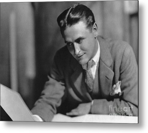 1925 Metal Print featuring the photograph F. Scott Fitzgerald by Granger