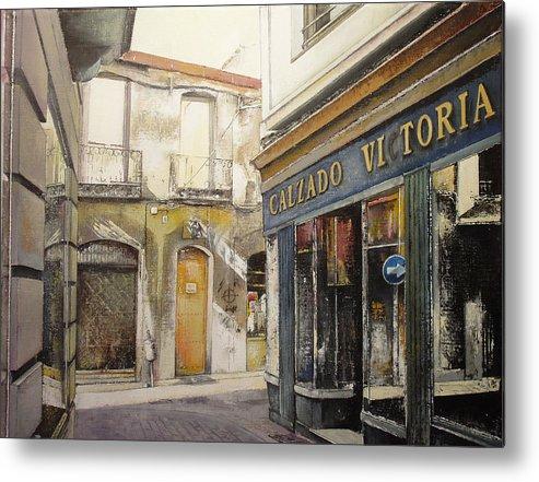 Calzados Metal Print featuring the painting Calzados Victoria-leon by Tomas Castano