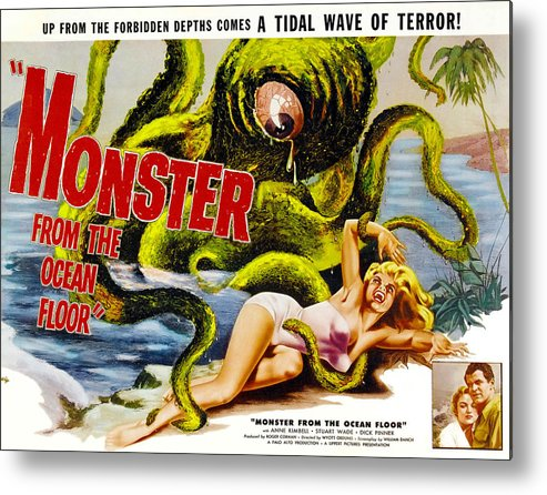 1950s Movies Metal Print featuring the photograph Monster From The Ocean Floor, Anne by Everett