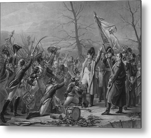 Napoleon Metal Print featuring the drawing Napoleon Returns From Elba by War Is Hell Store