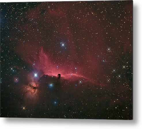 Astrophotography Metal Print featuring the photograph The Horsehead Nebula by Charles Warren