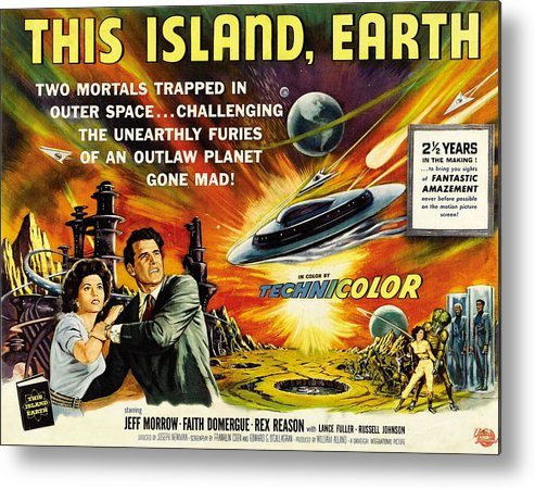 1950s Movies Metal Print featuring the photograph This Island Earth, Faith Domergue, Rex by Everett