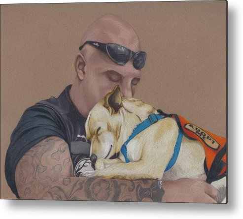 Tattoo Metal Print featuring the drawing Tough Love by Stacey Jasmin