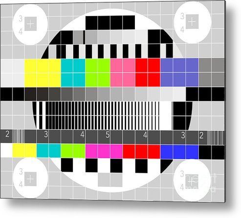 Television Metal Print featuring the digital art Tv Multicolor Signal Test Pattern by Aloysius Patrimonio