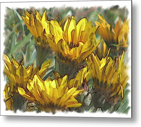 Abstract Metal Print featuring the digital art Yellow by Laurianne Nash