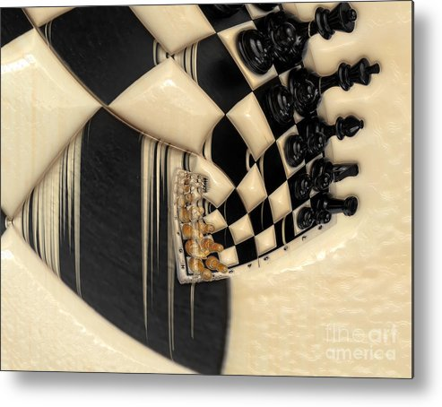 A Game Of Chess Metal Print featuring the photograph A Game Of Chess by Liane Wright