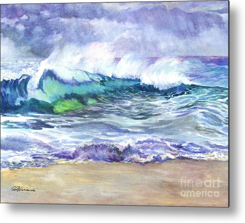 Sea Metal Print featuring the painting An Ode To The Sea by Carol Wisniewski