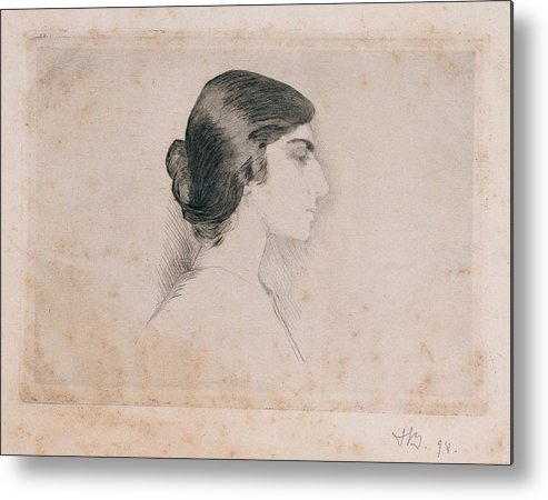 Self Portrait Metal Print featuring the photograph Blood Florence, Self-portrait, 1898 by Everett