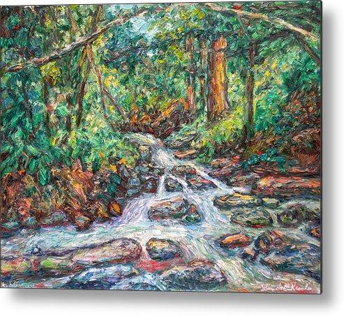Kendall Kessler Metal Print featuring the painting Fast Water Wildwood Park by Kendall Kessler