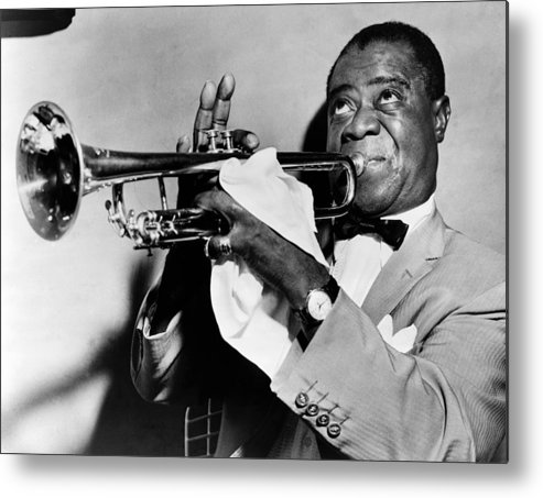 1953 Metal Print featuring the photograph Louis Armstrong (1900-1971) by Granger