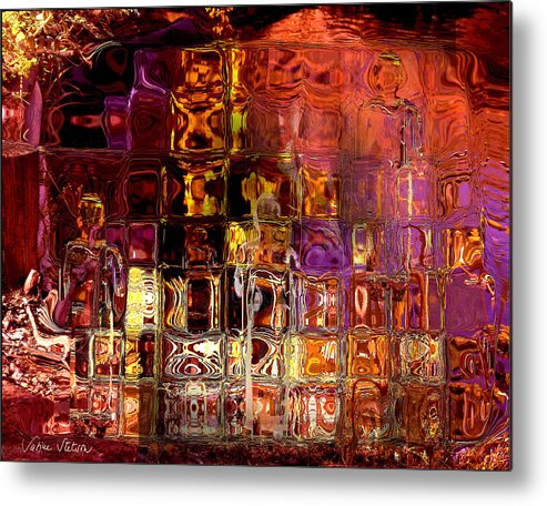 Meditation Metal Print featuring the digital art Restless Mind by Sabine Stetson