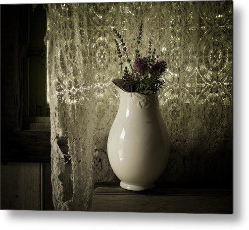 Lavender Metal Print featuring the photograph Tattered by Amy Weiss