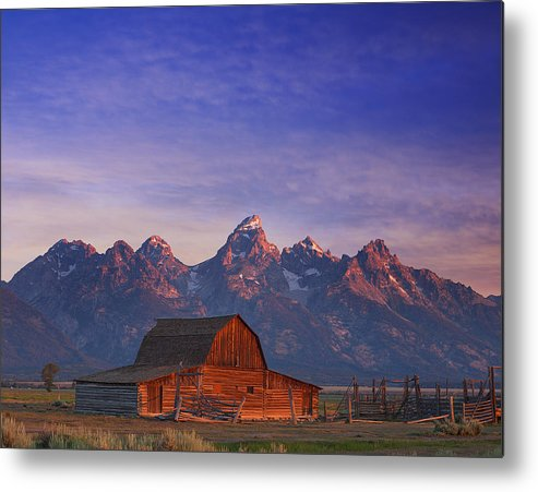 Tetons Metal Print featuring the photograph Teton Sunrise by Darren White