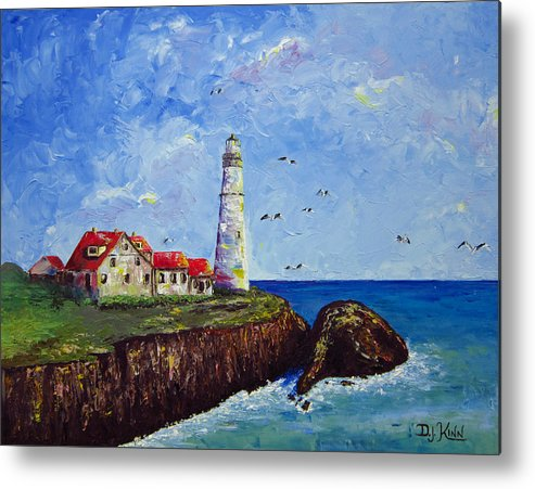 Lighthouse Metal Print featuring the painting The Guardian by Dottie Kinn