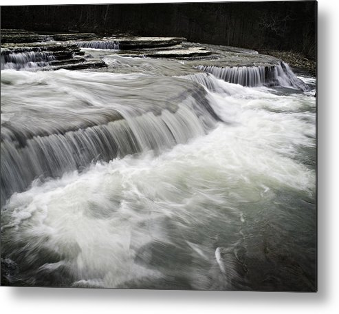 Arkansas Metal Print featuring the photograph 0804-0113 Six Finger Falls 2 by Randy Forrester