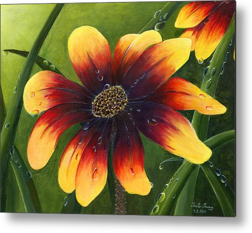 Flower Metal Print featuring the painting Blanket Flower by Trister Hosang