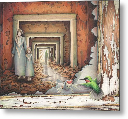 Cpsa Metal Print featuring the drawing Dream Series - Transfixed by Amy S Turner
