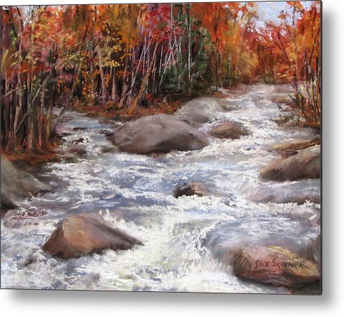 River Metal Print featuring the painting Meeting Of The Waters by Jack Skinner