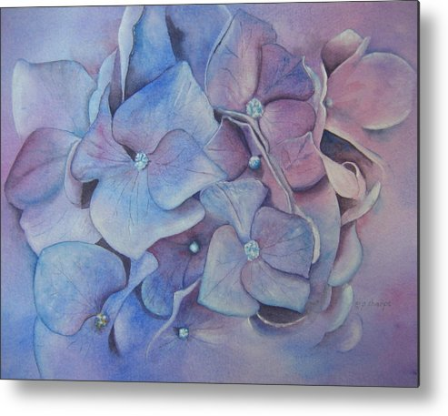 Close Focus Floral Metal Print featuring the painting Petals by Patsy Sharpe