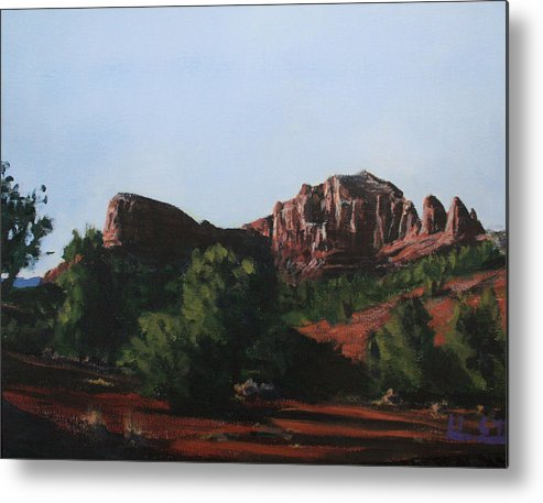 Sedona Metal Print featuring the painting Sedona Summer by Adam Smith