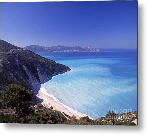 Greece Metal Print featuring the photograph Kefallonia Blues by Steve Outram