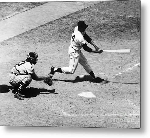 1959 Metal Print featuring the photograph Willie Mays (1931- ) by Granger