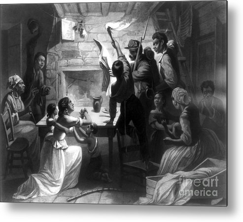 1863 Metal Print featuring the photograph Emancipation Proclamation by Granger
