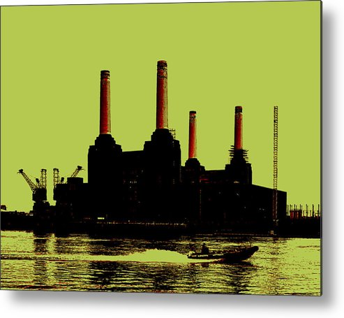 Power Station London Metal Print featuring the photograph Battersea Power Station London by Jasna Buncic