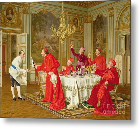 Louis Xiv's Apartments At Versailles Metal Print featuring the painting Birthday by Andrea Landini