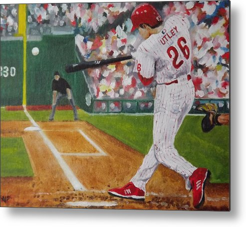 Ballpark Metal Print featuring the painting Chase by Al Fonollosa