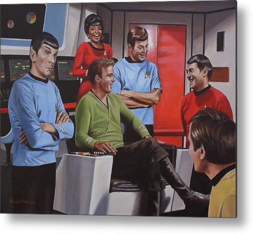 Star Trek Metal Print featuring the painting Comic Relief by Kim Lockman