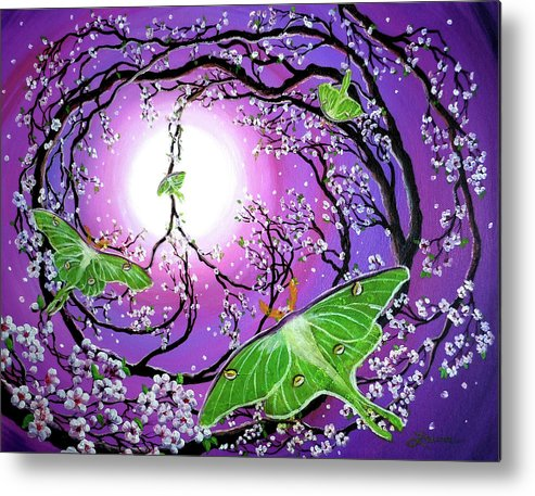Acrylic Painting Metal Print featuring the painting Drawn To The Light by Laura Iverson