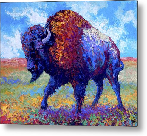 Bison Metal Print featuring the painting Good Medicine by Marion Rose