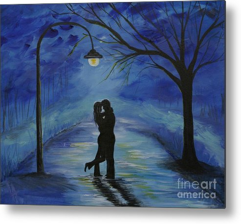 Couple Metal Print featuring the painting One Love One Lifetime by Leslie Allen