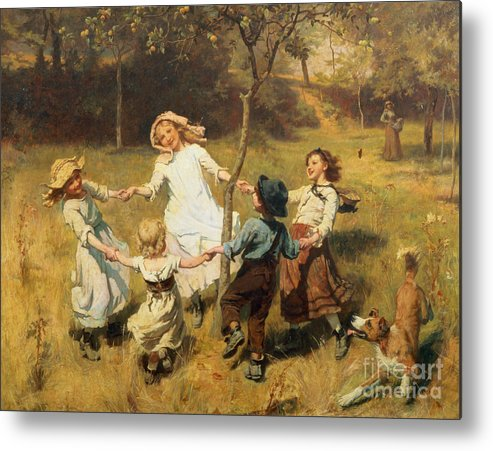 Frederick Morgan Metal Print featuring the painting Ring Of Roses by Frederick Morgan
