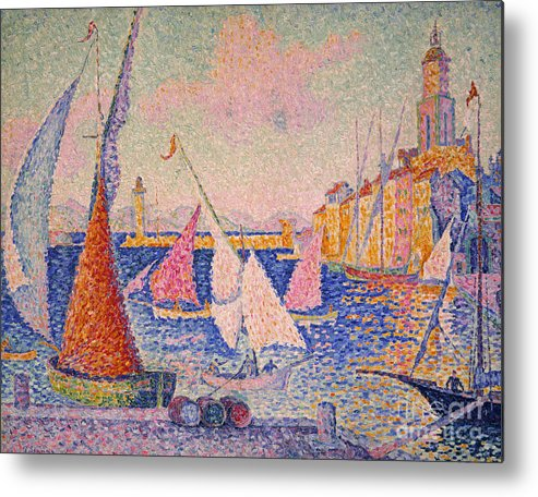 1899 Metal Print featuring the photograph Signac: St. Tropez Harbor by Granger