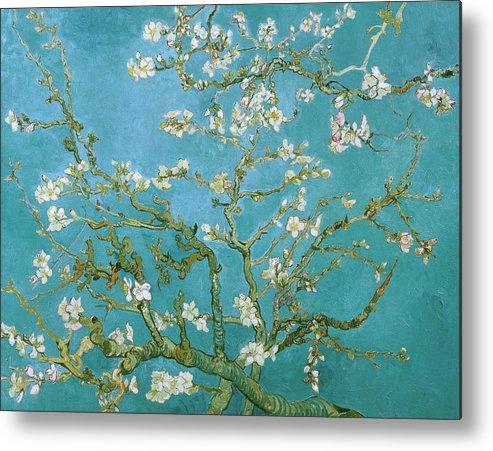 Van Gogh Metal Print featuring the painting Van Gogh Blossoming Almond Tree by Vincent Van Gogh