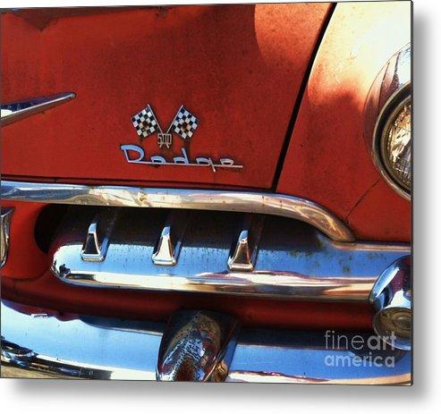 1956 Dodge 500 Series Photo 2b Metal Print by Anna Villarreal Garbis