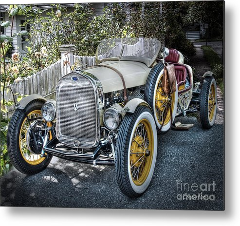 Ford Roadster Metal Print featuring the photograph Ford Roadster by Louise Reeves
