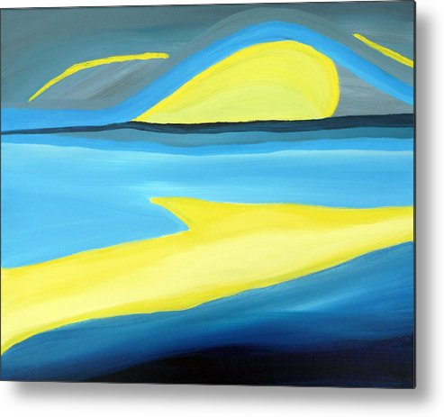 Surreal Metal Print featuring the painting Ascending Light Into The New Dawn Of Time by Daina White