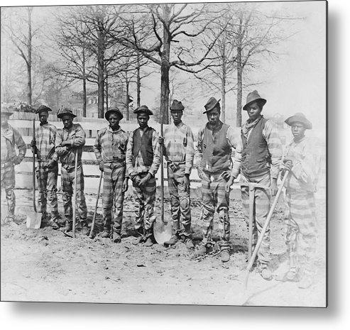 chain Gang Metal Print featuring the photograph Chain Gang C. 1885 by Daniel Hagerman