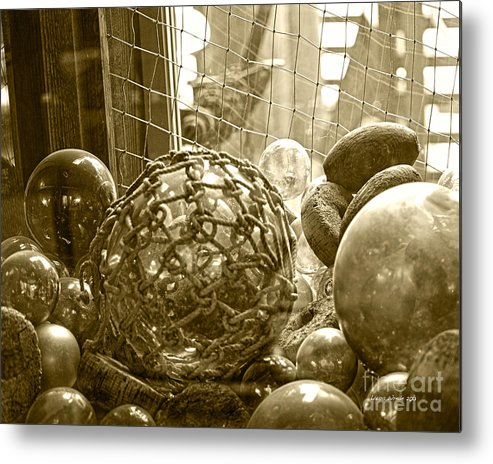 Ocean Floats Metal Print featuring the photograph Glass Balls Japanese Glass Buoys by Artist and Photographer Laura Wrede
