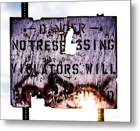 Danger Metal Print featuring the photograph Old Danger by Bob Orsillo