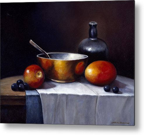Pallet Metal Print featuring the painting Still Life Rhapsody by John Zaccheo