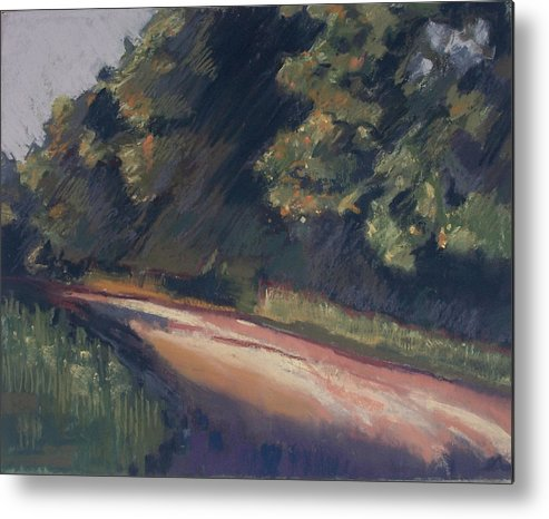 Dirt Roads Metal Print featuring the pastel Summer Roads by Grace Keown