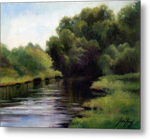 Swan Creek In Hickman County Metal Print featuring the painting Swan Creek by Janet King